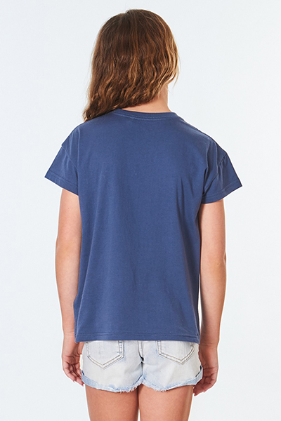 Футболка детская Rip Curl Retro Tee - Girl Mid Blue