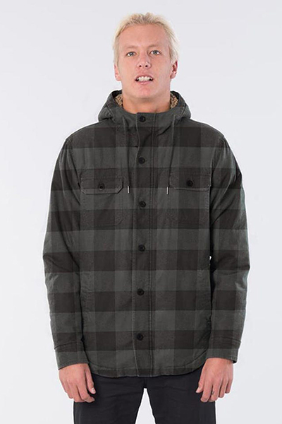 Куртка Rip Curl Sounds Hooded Shirt Washed Black