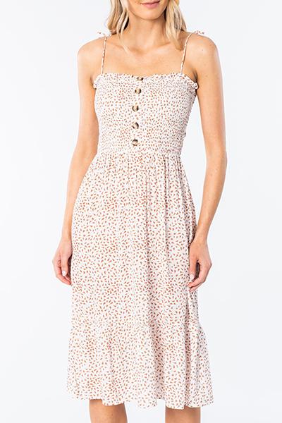 Платье женское RIPCURL In The Tropics Midi Dress White