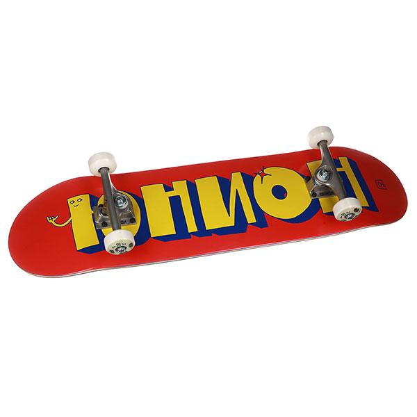 Скейтборд в сборе Юнион Team Red/Yellow 8,5x32,5,Medium Колёса 54mm/98a Подвески 149 Подшипники ABEC 7