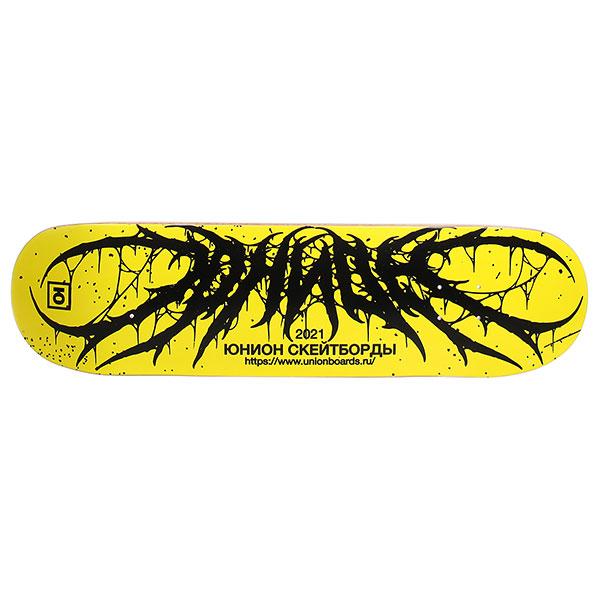 Дека для скейтборда Юнион Team2 yellow Black 33 x 8.5 (21.6 см)