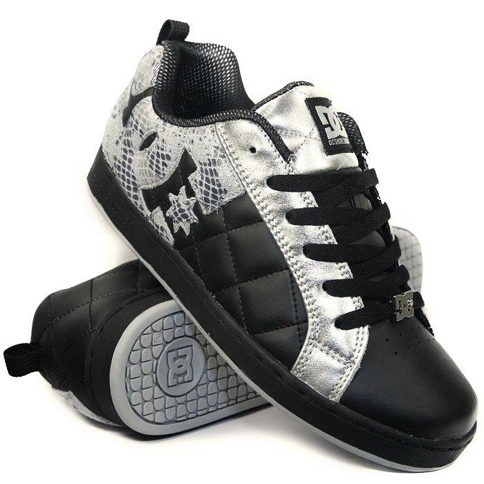 cbfc8ecb9 Купить обувь кеды кроссовки жен. DC Alliance Black/Met/Silver (DC1 ...