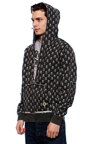 Толстовка Fallen Cobra Hood Fleece Black/White/Skulls