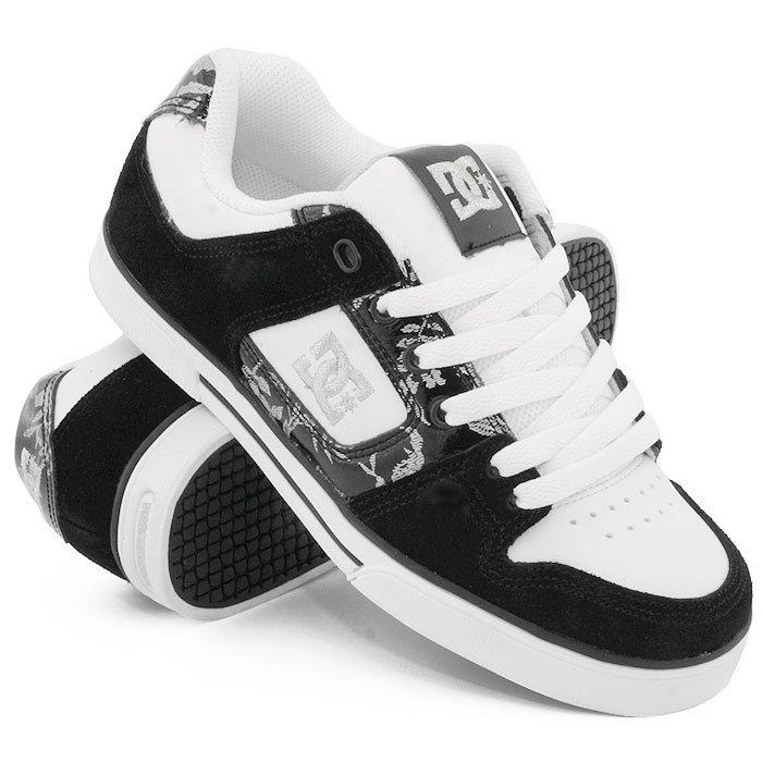 ab38c1932 Купить обувь кеды кроссовки жен. DC WS Pure SE Black/White/Armor ...