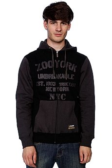 Толстовка Zoo York Gym Class Stencil Washed Black
