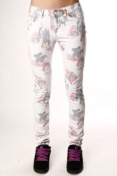 Джинсы узкие женские Insight Beanpole Skinny Stretch Art Bouquet