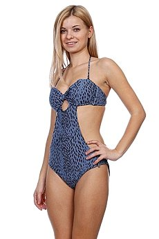 Купальник женский Stussy Prom Cut Out One Piece Blue
