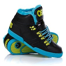 Кеды утепленные Osiris Nyc 83 Shr Black/Teal/Lime