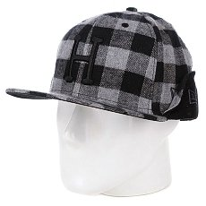 Бейсболка New Era Huf Classic Hear Flap NewEra Black