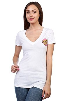 Футболка женская Santa Cruz Other Dot V-Neck White