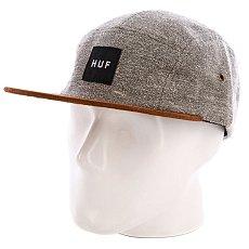 Бейсболка пятипанелька Huf Tweed Volley Gray