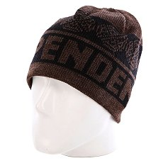 Шапка Independent Woven Crosses Beanie Black/Heather Brown