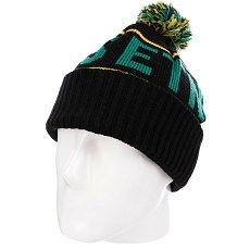 Шапка с помпоном Etnies Steppen Beanie Black/Green