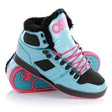 Кеды утепленные женские Osiris Nyc 83 Shr Blue/Black/Pink