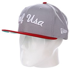 Бейсболка New Era Huf Usa NewEra Gray/Red