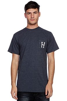 Футболка Huf Classic H Pocket Tee Denim Heather