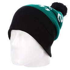 Шапка с помпоном Diamond I Am Fold Beanie Black/Green