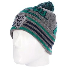 Шапка с помпоном Etnies Thunderous Beanie Grey/Heather