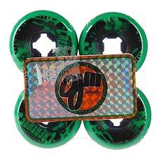 Колеса для лонгборда Oj Iii Bloodsuckers Green Black 97a 56 mm