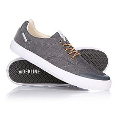 Кеды низкие Dekline Tim Tim Pewter/White