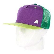 Бейсболка с сеткой True Spin 3 Tone Blank Trucker Cap Purple/Blue/Green