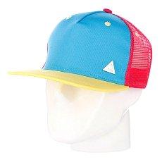 Бейсболка с сеткой True Spin 3 Tone Blank Trucker Cap Blue/Pink/Yellow