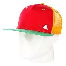 Бейсболка с сеткой True Spin 3 Tone Blank Trucker Cap Red/Yellow/Green