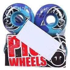 Колеса для скейтборда Pig Head Swirl Blue 101A 51 mm