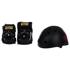 Комплект защиты детский Darkstar Helmet And Pad Pack Black
