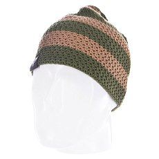 Шапка Fallen Buffalo Striped Knits Beanie True Tan/Olive