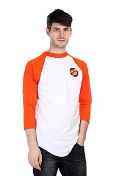 Лонгслив Santa Cruz Other Dot Raglan White/Orange
