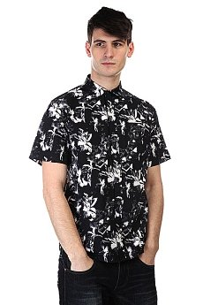 Рубашка Huf Floral S/S Woven Black Floral