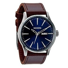 Часы Nixon Sentry Leather Blue/Brown