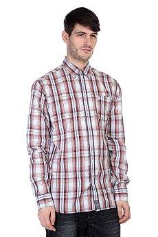 Рубашка в клетку Fallen Richmond L/S Button Up Rust/Blue