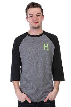 Лонгслив Huf Classic H Raglan Grey Heather/Lime