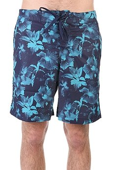 Шорты пляжные Huf Floral Boardshort Navy Floral