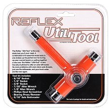 Ключ для скейтборда Reflex Tool Orange/Chrome