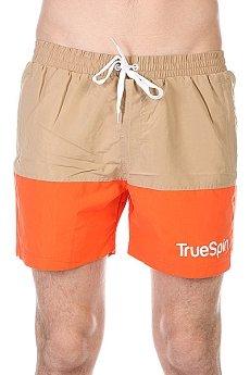 Шорты пляжные TrueSpin Swimming Shorts Splash Two Beige/Orange