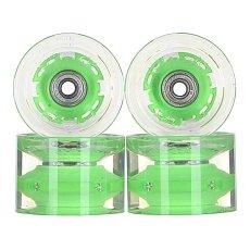 Колеса для лонгборда с подшипниками Sunset Conical Longboard Wheel Set With Abec9 Green 78A 65 mm