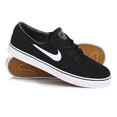 Кеды низкие Nike Zoom Stefan Janoski Cnvs Black/White Gym/Light Brown Mtlc Gl