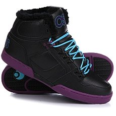 Кеды утепленные Osiris Nyc 83 Shr Black/Purple/Teal