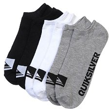 Носки низкие Quiksilver 3pk Bold Logo Multi