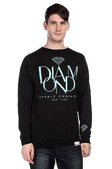 Толстовка Diamond Parisian Crewneck Black