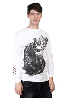 Лонгслив Grizzly Bear Encounter Tee White