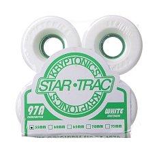 Колеса для лонгборда Kryptonics Star Trac White/Green 97A 55 mm