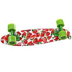 Скейт мини круизер Turbo-FB Stawberry Grass Red/Green/White 22 (55.9 см)