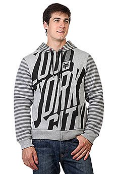Толстовка Zoo York Enew15 We Bold Striped Hoodie Grey Heather