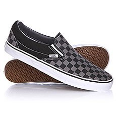 Слипоны Vans Classic Slip On Black/Pewter Checkerboard