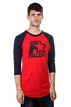 Лонгслив Fallen Brewer Raglan Blood Red/Mid Blue