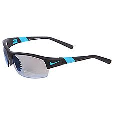 Очки Nike Optics Show X2 R Grey W/Sky Blue Flash/Clear Lens Matte Black/Turbo Green
